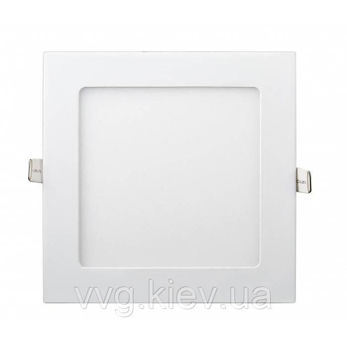 Точечный LED светильник встраиваемый квадратный 12W 174мм/158мм 4200K 950lm Lezard