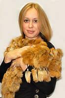 Шарф из натурального меха лисы, фото 1