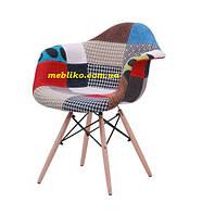 Кресло пэчворк  PC-018WB ( с лоскутков ткани)