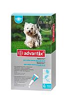 BAYER Advantix Адвантикс капли для собак вес 4-10 кг 1пипетка 1мл, фото 1