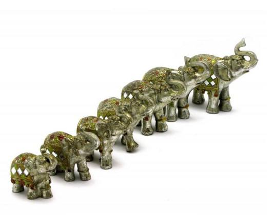 Слоны набор 7 шт (28,5х23х7 см)