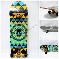 Скейтборд Fish Skateboard DMF Трикутники, до 90 кг