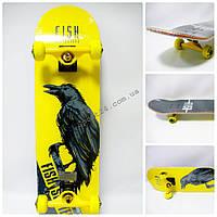 Скейтборд Fish Skateboard Ворон, до 90 кг