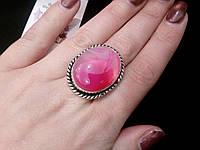 Кольцо с натуральным камнем ботсванский агат в серебре. Кольцо с агатом.