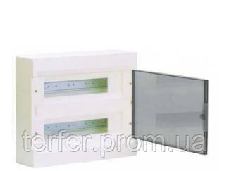 Щит з/у з прозорими дверцятами 24 мод.(2х12) COSMOS