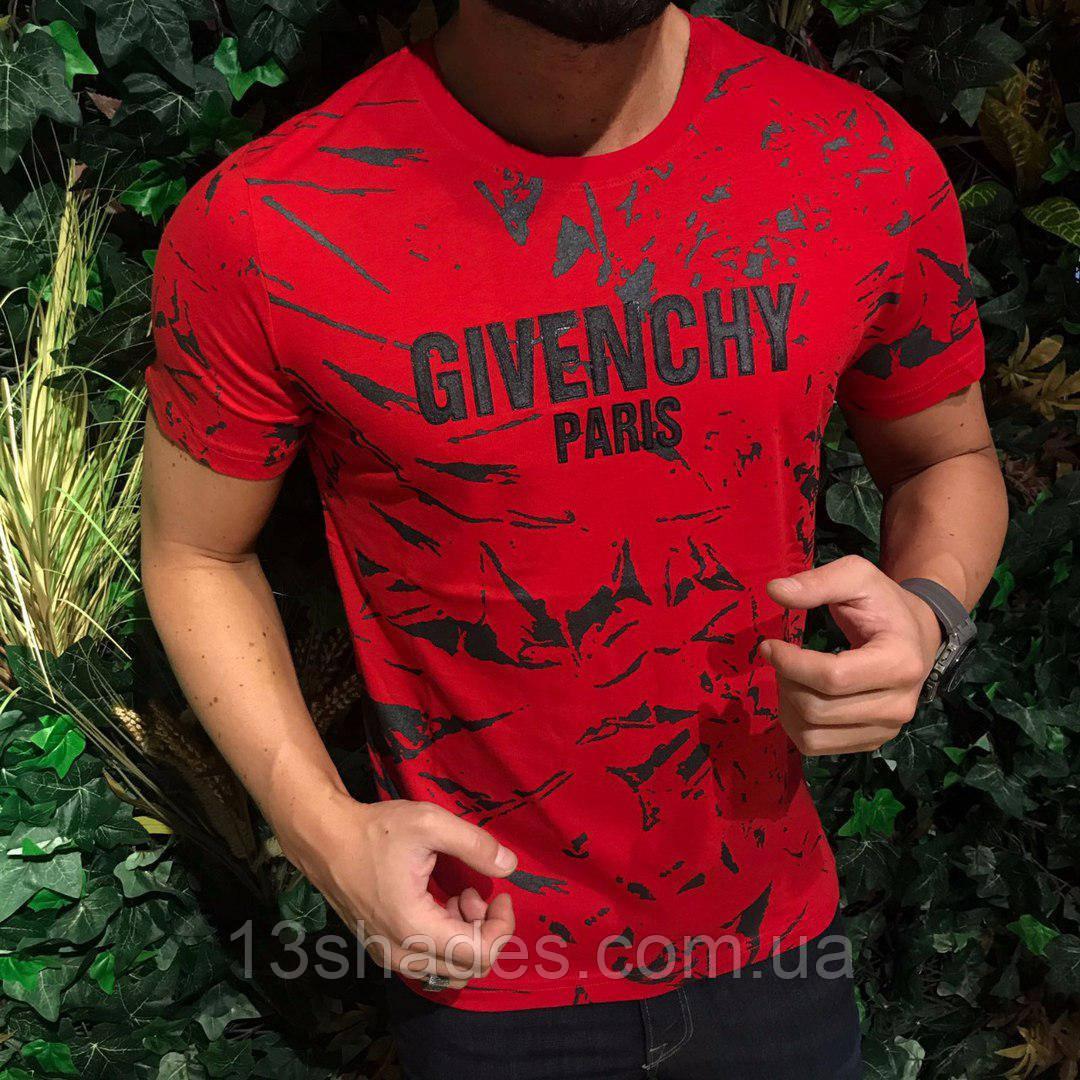 29dbe807a3c Футболка мужская Givenchy красная - Интернет-магазин