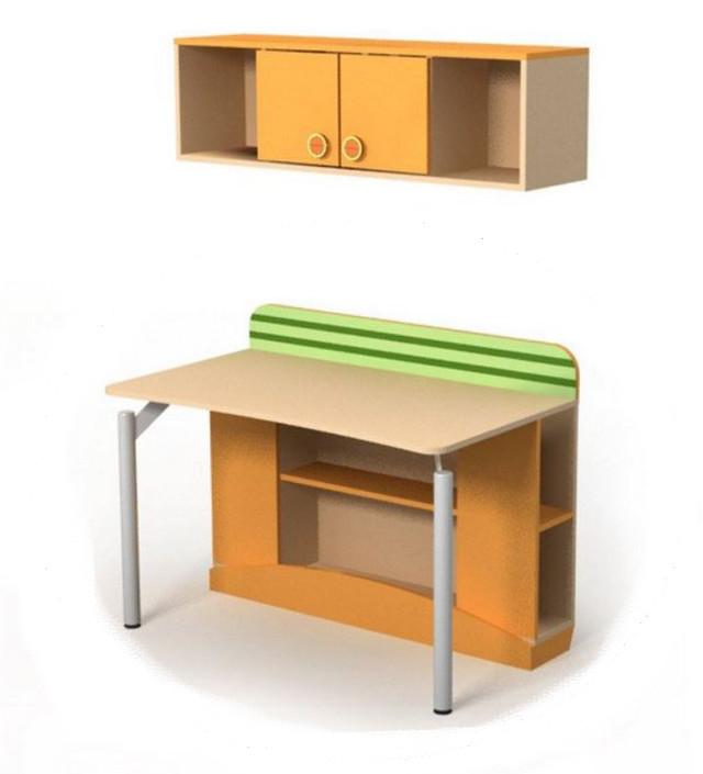 Полка навесная Bs-19 Active с письменным столом в комплекте
