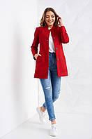 Демисезонное шерстяное пальто на пуговицах