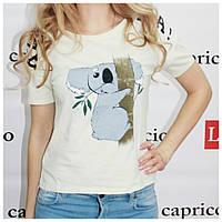 Женская футболка с милым принтом, Турция, светло-зеленая, фото 1