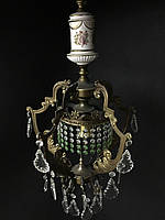 Антикварная бронзовая люстра старинная люстра светильник