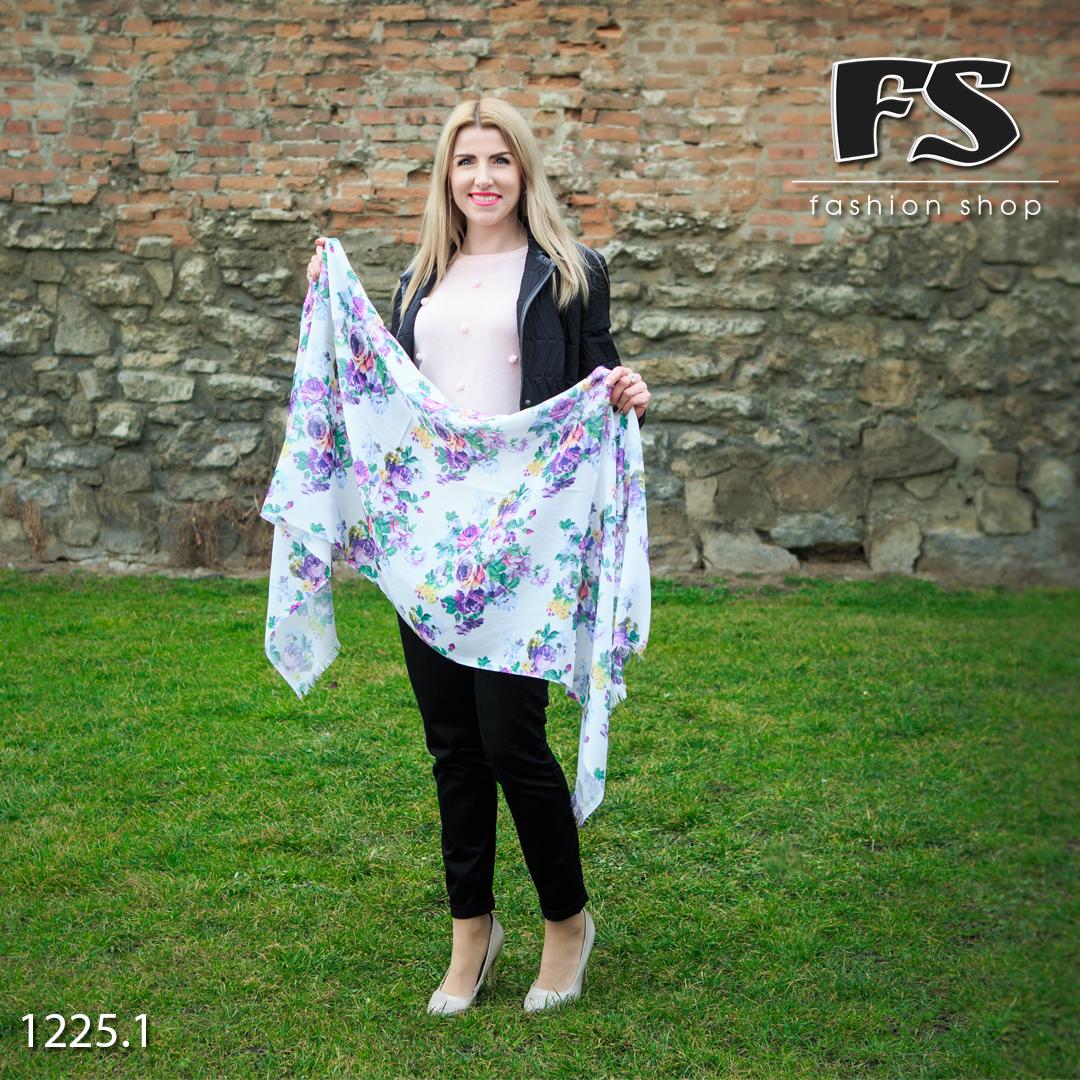 Стильный лёгкий шарф Цветочный блик