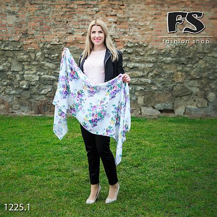 Стильный лёгкий шарф Цветочный блик, фото 2