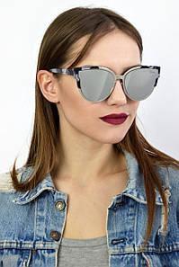 Cолнцезащитные женские очки реплика Dior 9018 серые