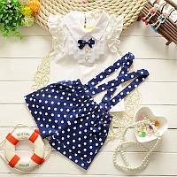 Костюм для девочки летний шорты и блузка