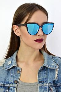 Cолнцезащитные женские очки реплика Dior 9018 синие