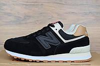 Женские кроссовки в стиле New Balance 574 черные, фото 1