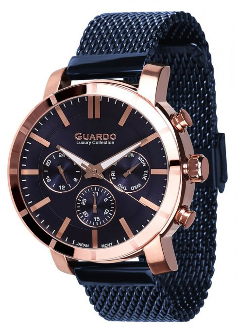Мужские наручные часы Guardo S01677(m) RgBl