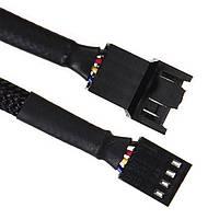 Кабель удлинитель питания FAN 4pin F/M (подключение корпусного вентилятора) f14