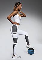 Спортивные женские легинсы BasBlack Passion white (original), лосины для бега, фитнеса, спортзала