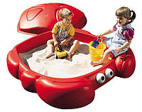 Песочница детская Краб с крышкой Step 2 7405 для детей (дитяча пісочниця з кришкою для дітей)