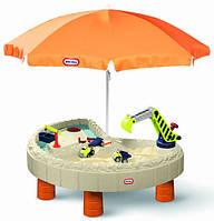 Песочница водный столик 2в1 Веселая стройка Little Tikes 401N для детей (пісочниця для дітей)