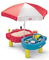 Детская песочница водный столик 2в1 Тихая Гавань Little Tikes 401L для детей (дитяча пісочниця водяний столик)