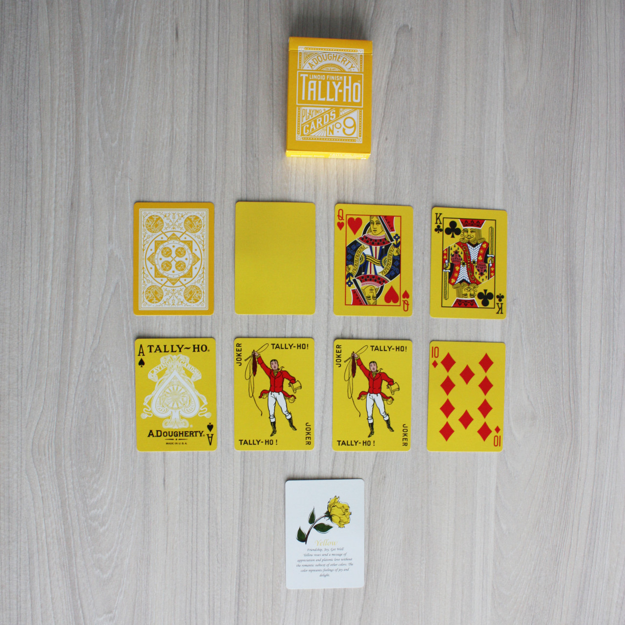 Карты игральные | Tally Ho Reverse Fan back (Yellow), фото 4