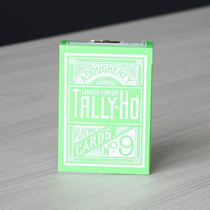 Карты игральные   Tally Ho Reverse Circle back (Green) Limited Ed. by Aloy Studios / USPCC, фото 2