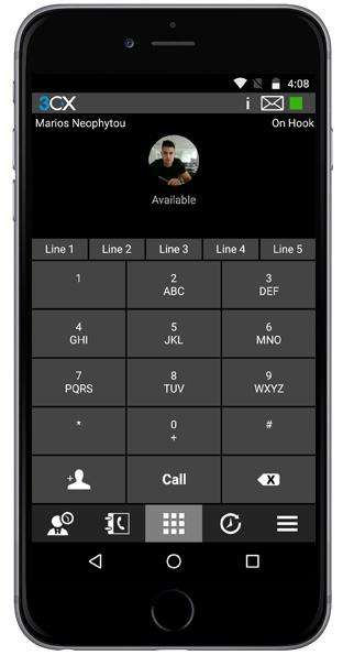 Мобильный клиент 3CX для Android и iPhone