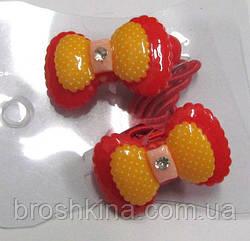 Детские резиночки для волос Бантики красные