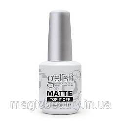Матовый топ Gelish Matte Top it Off, 15 мл