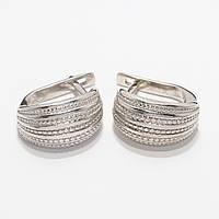 Серебряные серьги 1100276