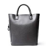 Женская сумка вместительная кожаная серая опт, фото 1