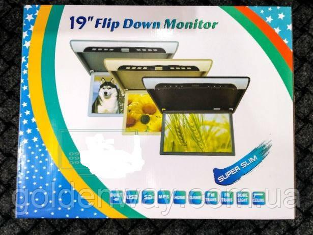 Потолочный монитор в авто Super Slim 19 дюймов Full HD (1920x1080) Читает все форматы с флешки