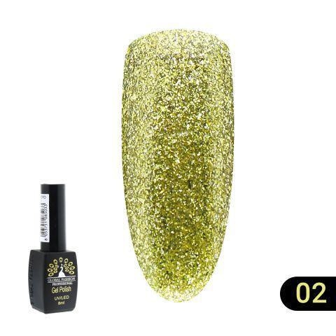 Гель лак Global Fashion Gold(золотая серия) 8 мл  №02