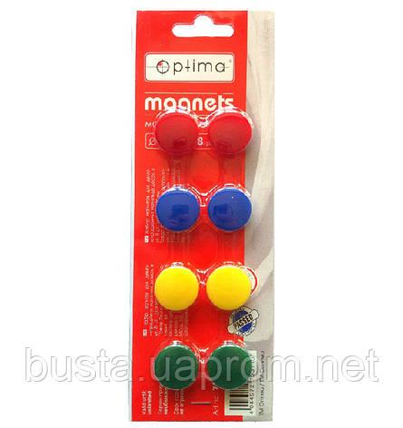 Магниты для доски 8шт Optima, фото 2