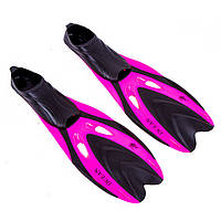 Ласты для плавания детские с закрытой пяткой Dolvor F65JR размер 31-33 розовые