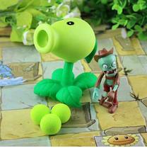 Игрушки Растения против зомби Зеленый Горохострел Plants vs zombies