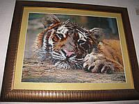Ожидание Тигр Картина вышитая бисером, фото 1
