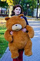 Плюшевый мишка Тед Третий лишний 100см.  Длинноворсный коричневый