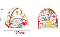 Килимок з дугами для дітей 818-1A  сови 2 в 1 сумка 62*5*60 см
