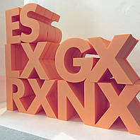 Циферки и буквы из пенопласта