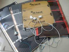 Готовые комплекты с подключеными проводами и вилкой( нагревательные пленки)