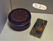 Подарочная коробка из жести Праздничная синяя, 147*70мм, фото 2