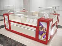 Витрины и прилавки для ювелирных салонов и магазинов, торговая мебель