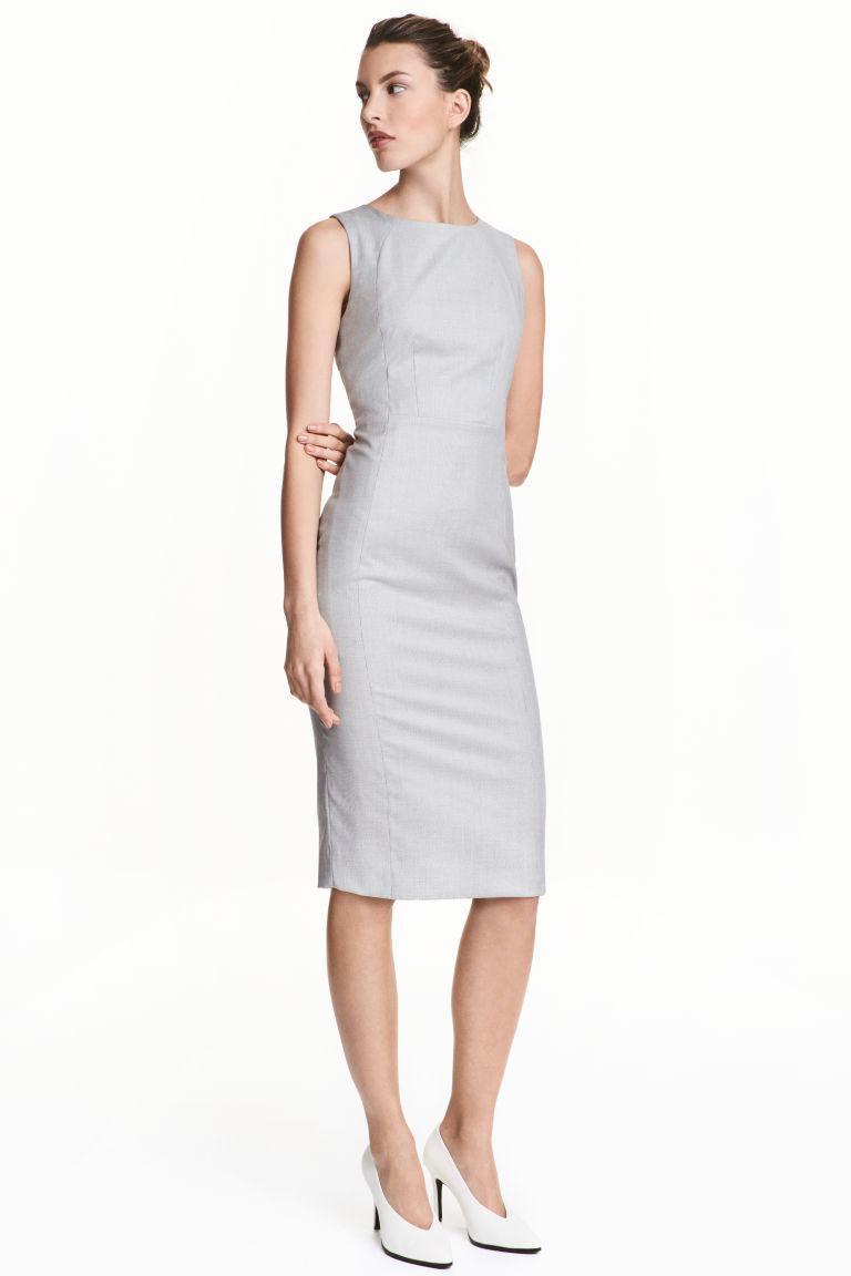 Новое серое платье-футляр H&M