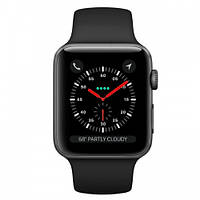 Apple Watch Series 3 GPS + LTE 38mm Space Gray Aluminum w. Black Sport B. (MQJP2)