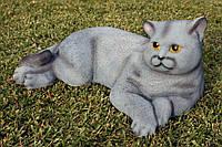 Кот серый H-18см, фото 1