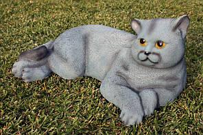 Кот серый H-18см