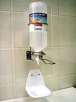 Дозатор настенный для флакона из нержавеющей стали на 1 л типа аэрлесс (АНИОС), фото 1
